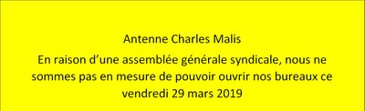 Grève Malis 27 03 2019 FR