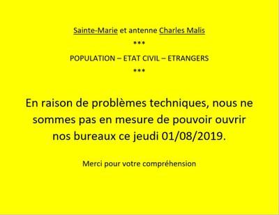 problèmes techniques 01 08 19 FR