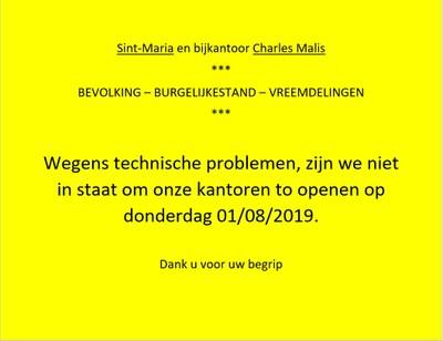 problèmes techniques 01 08 19 NL