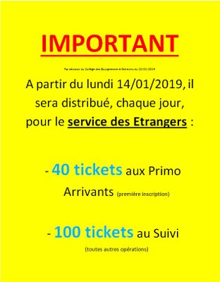 tickets FR